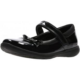 Детски обувки от естествена кожа Clarks черни