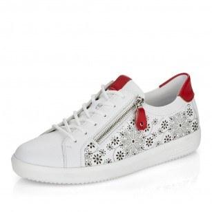 Дамски спортни обувки Remonte естествена кожа бели D1407-80