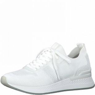 Дамски спортни обувки Tamaris Fashletics на платформа бели
