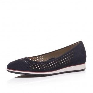 Дамски равни обувки Ara High Soft естествена кожа тъмно сини
