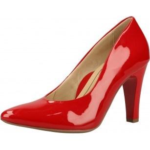 Дамски обувки на висок ток Ara естествена кожа червен лак ширина F1/2