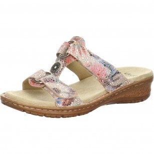 Дамски чехли с велкро Ara цветни