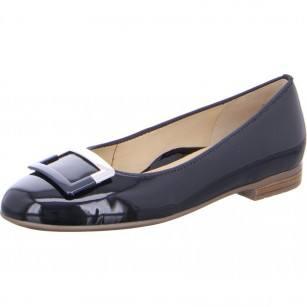 Дамски равни елегантни обувки Ara тъмно син лак