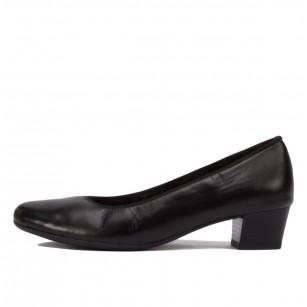 Дамски обувки Ara High Soft естествена кожа черни ширина Н