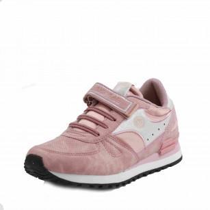 Детски спортни обувки с връзки B.Basile розови