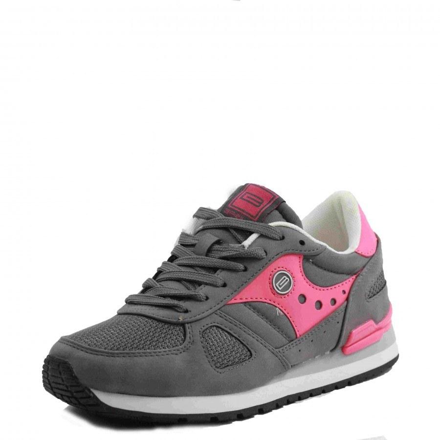 Дамски спортни обувки с връзки B.Basile сиви/розови