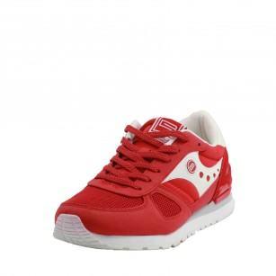 Мъжки спортни обувки с връзки В.Basile червени