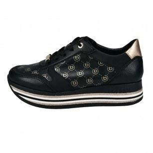 Дамски спортни обувки на платформа Bugatti® черни