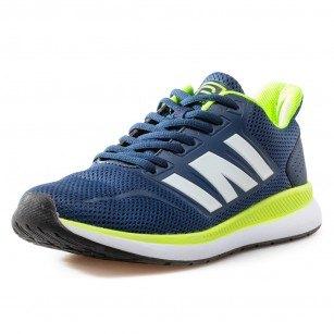Мъжки спортни обувки с връзки Bulldozer сини