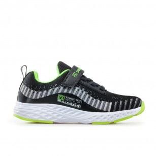 Детски спортни обувки Bulldozer черни/зелени 31-35