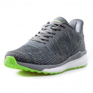Мъжки спортни обувки с връзки Bulldozer сиви