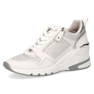 Дамски спортни обувки на платформа Caprice бели мемори пяна