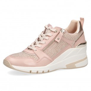 Дамски спортни обувки на платформа Caprice розови мемори пяна