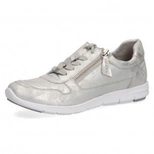 Дамски спортни обувки Caprice естествена кожа сребристи мемори пяна