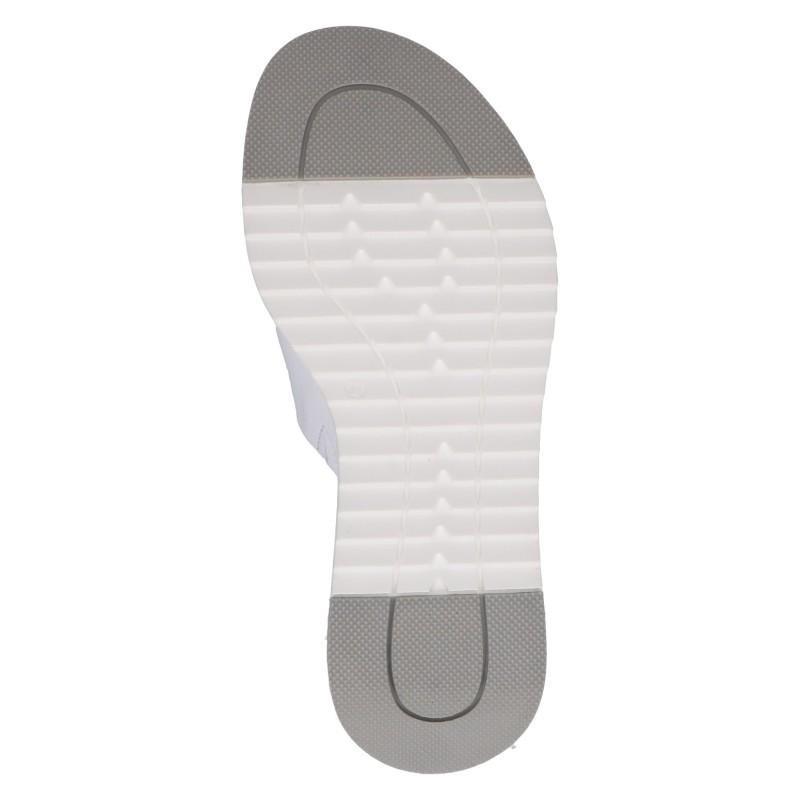 Дамски ежедневни чехли Caprice естествена кожа бели