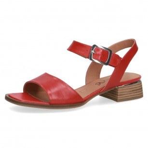Дамски ежедневни сандали Caprice естествена кожа червени
