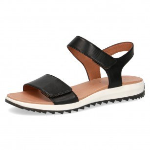Дамски ежедневни сандали Caprice естествена кожа черни