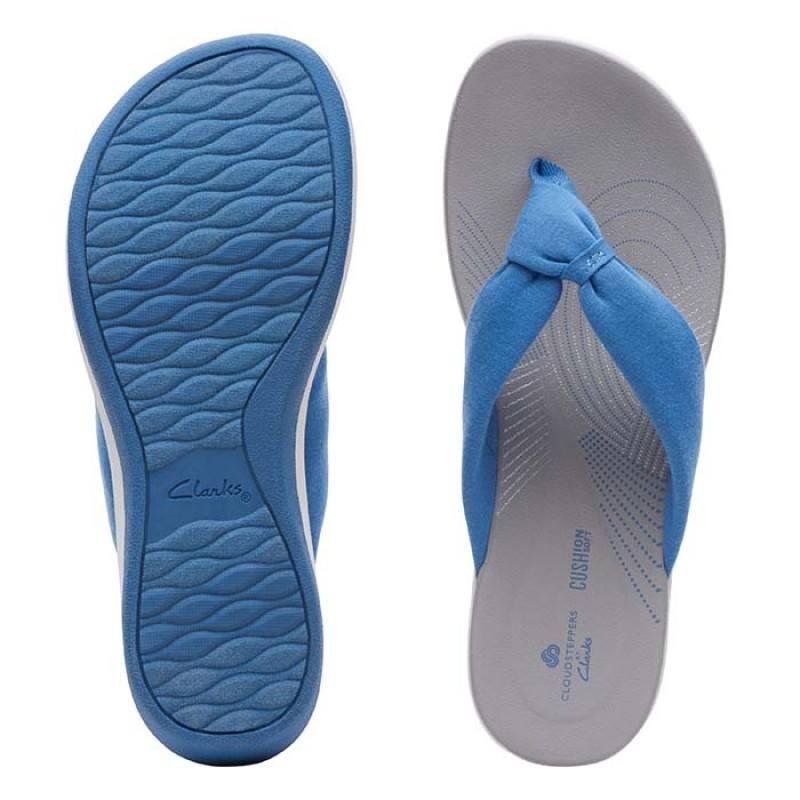 Дамски чехли  Clarks Arla Glison сини