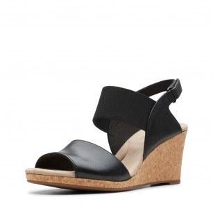 Дамски сандали на платформа Clarks Lafley Lily черни
