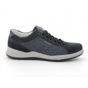 Мъжки обувки IGI & CO естествен велур сини
