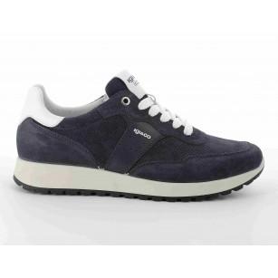 Мъжки обувки с връзки IGI & CO естествен велур сини