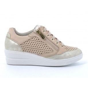 Дамски обувки IGI & CO на платформа естествена кожа бежови