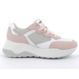 Дамски обувки с връзки IGI & CO на платформа бели/розови