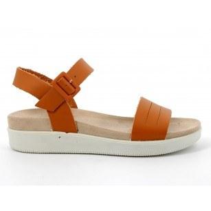 Дамски сандали IGI & CO естествена кожа на платформа оранжеви