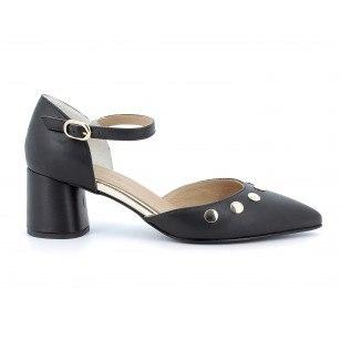 Елегантни дамски обувки на ток IGI & CO естествена кожа черни