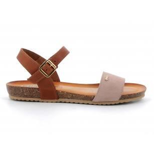 Дамски равни сандали IGI & CO естествена кожа сини/розови