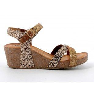 Дамски сандали IGI & CO на платформа златисти