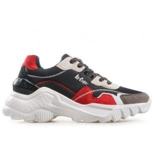 Дамски спортни обувки Lee Cooper LC-211-24 черни/червени