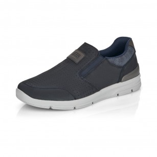 Мъжки обувки от естествена кожа Rieker ANTISTRESS сини 16455-14