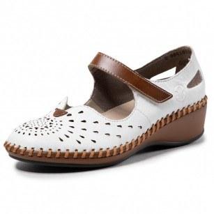 Дамски обувки естествена кожа Rieker ANTISTRESS N1657-80 бели