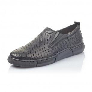 Мъжки ежедневни обувки без връзки естествена кожа Rieker 1965-00
