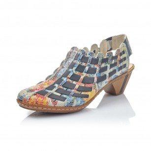 Дамски летни обувки Rieker ANTISTRESS 46778-91 цветни