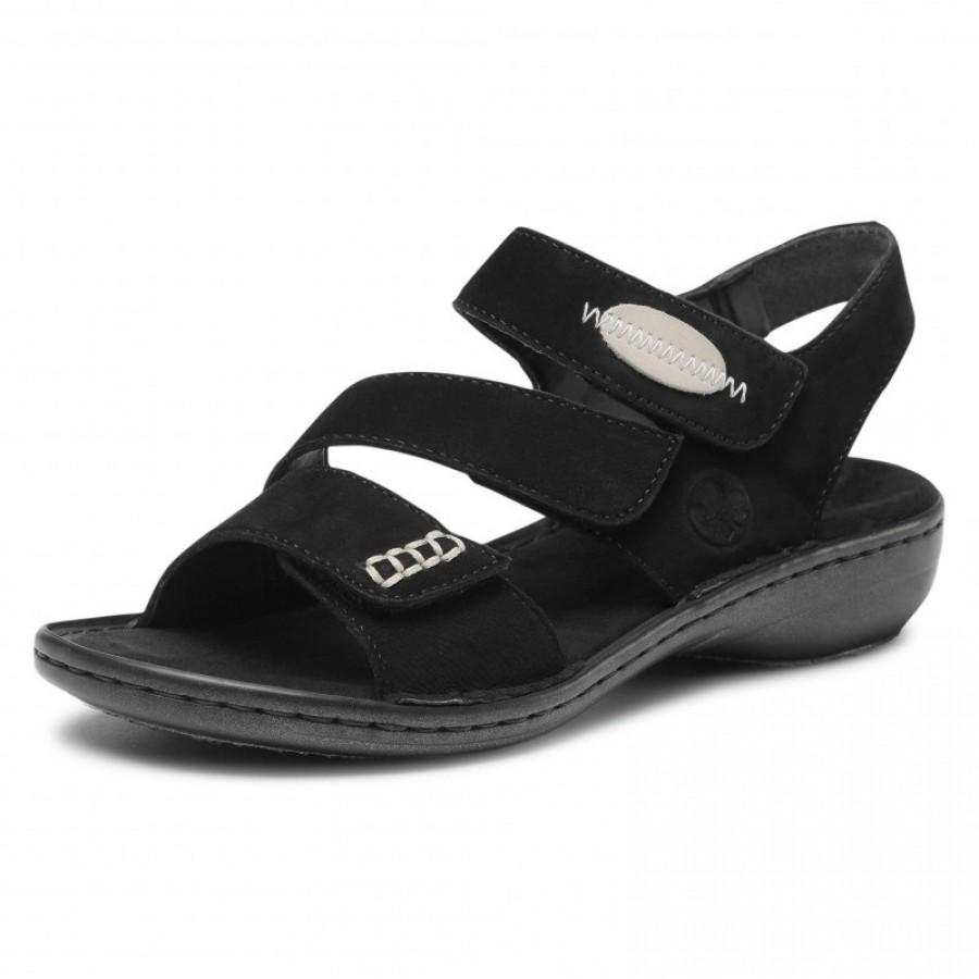 Дамски сандали естествен набук Rieker ANTISTRESS 608Q3-00 черни