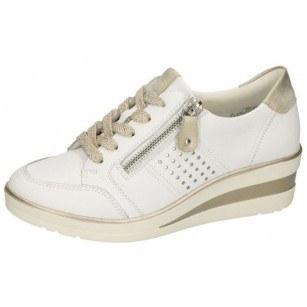 Дамски спортни обувки Remonte естествена кожа бели R7215-80