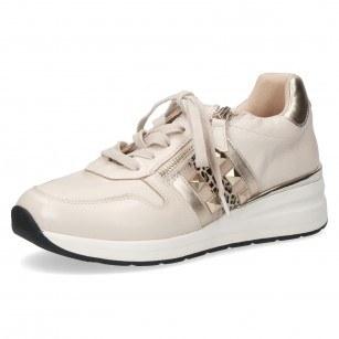 Дамски спортни обувки на платформа Caprice естествена кожа ширина H бежови