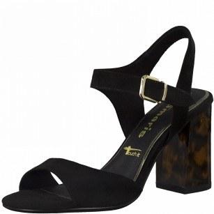 Дамски сандали на висок ток Tamaris Touch It® черни