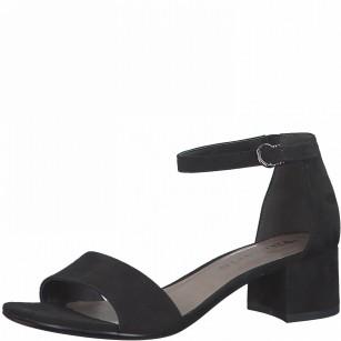 Дамски елегантни сандали на нисък ток Tamaris черни