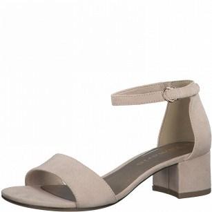 Дамски елегантни сандали на нисък ток Tamaris розови