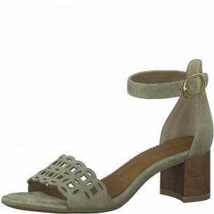Дамски сандали на ток Tamaris естествена кожа ANTISLIDE® Touch It®
