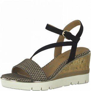Дамски сандали на платформа Tamaris Touch It® черни/сребристи