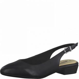 Дамски сандали Tamaris на нисък ток ANTISLIDE®, TOUCH IT® черни