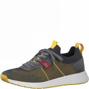 Мъжки спортни обувки S.Oliver Soft Foam мемори пяна сиви/жълти