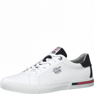 Мъжки спортни обувки S.Oliver Soft Foam мемори пяна бели