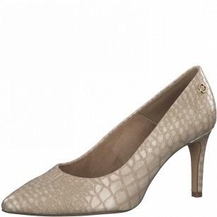 Елегантни дамски обувки с тънък ток S.Oliver So Flex Soft Foam бежови