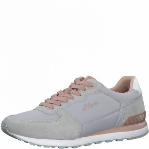 Дамски спортни обувки S.Oliver Soft Foam сиви/розови