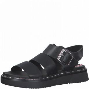 Дамски сандали с мека стелка S.Oliver черни